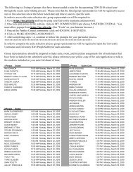 The following is a listing of groups that have been ... - Panther Central