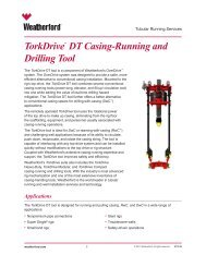 TorkDrive™ DT Casing-Running and Drilling Tool - Weatherford ...
