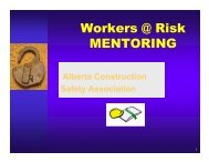 Workers at Risk Presentation - Construction Owners Association of ...