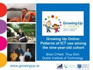 Patterns of ICT use among the nine-year - Growing Up in Ireland