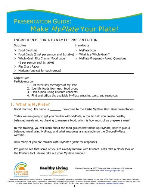 Fill Up with Fiber Presentation Guide - Healthy Living   for