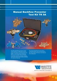 Manual Backflow Preventer Test Kit TK 9A - Watts waterbeveiliging