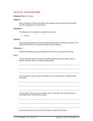 Lab 14.1.8: Security Checklist