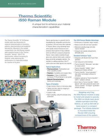 Thermo Scientific iS50 Raman Module - Nicolet CZ sro