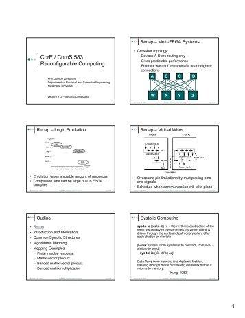 CprE / ComS 583 Reconfigurable Computing - Iowa State University
