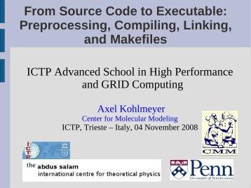 Preprocessing, Compiling, Linking, and Makefiles - democritos
