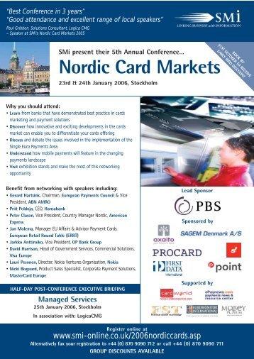 Nordic Card Markets - SMi Online