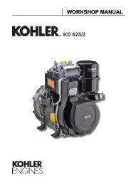 Kohler Diesel Engine Model KD 625-2 work shop manual