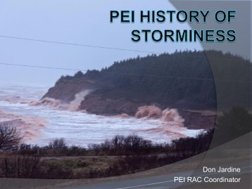 PEI History of Storminess - Atlantic Climate Adaptation Solutions