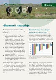 Økonomi i naturpleje Faktaark - LandbrugsInfo