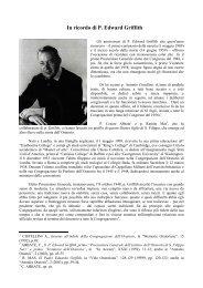 In ricordo di P. Edward Griffith - Confederazione dell'Oratorio di San ...