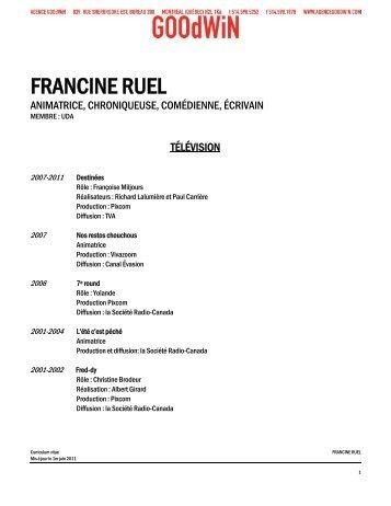 FRANCINE RUEL - Agence Goodwin