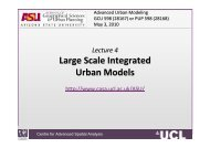 Large Scale Integrated Urban Models - Centre for Advanced Spatial ...