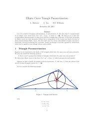 Elliptic Curve Triangle Parametrization