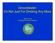 Groundwater - Alabama Department of Environmental Management
