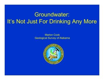 Groundwater - Alabama Department of Environmental Management