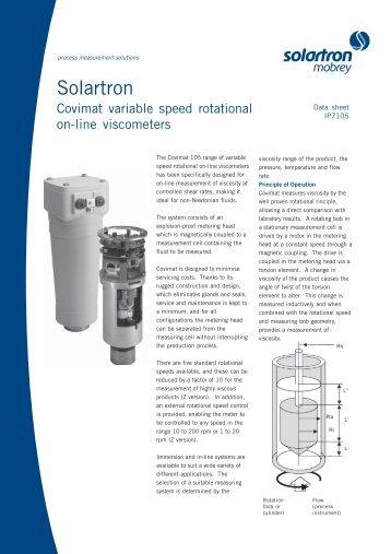 Solartron on-line Viscometers - Measurement Resources