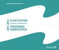 plan d'action 2011 – 2012 favorisant l'intégration des personnes ...