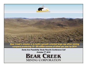 Bear Creek Mining