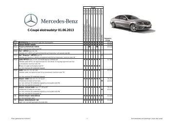 C-Coupé ekstraudstyr 01.06.2013 - Mercedes-Benz Danmark