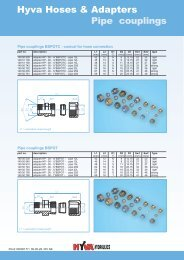 Hyva Hoses & Adapters Pipe couplings