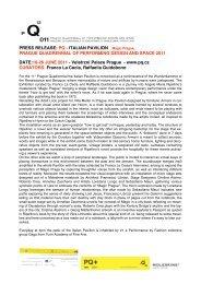 PQ ITALIAN PAVILION _PRESS RELEASE.pdf - Prague Quadrennial