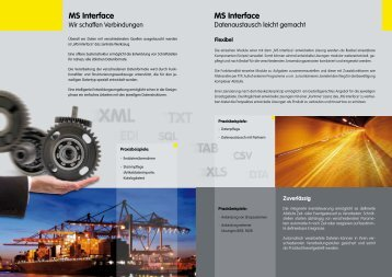 MS Interface MS Interface - Ms-solutions-it.de