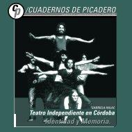 Cuadernos de Picadero - Instituto Nacional del Teatro
