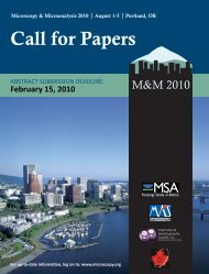 Call for Papers (PDF) - Microscopy Society of America