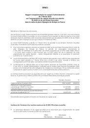 VINCI - Rapport complémentaire du conseil d'administration du 7 ...