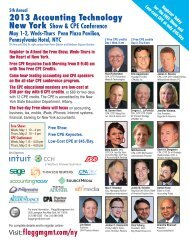 2013 CPE Conference Program - Flagg Management Inc