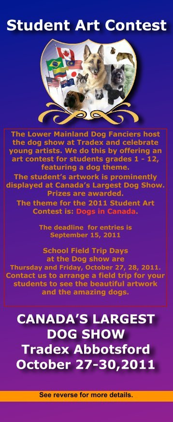 Student Art Contest - BC Dog Show Services