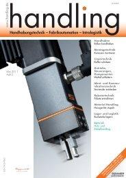 Handhabungstechnik – Fabrikautomation – Intralogistik - Handling