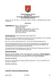 Protokoll der 36. Gemeinderatssitzung - Wildon