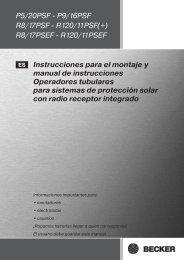 R8/17PSEF - R120/11PSEF Instrucciones para el montaje y manual ...