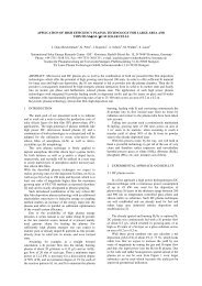 Application of High Efficiency Plasma Technology for ... - ISC Konstanz