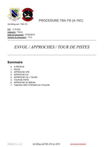 ENVOL / APPROCHES / TOUR DE PISTES