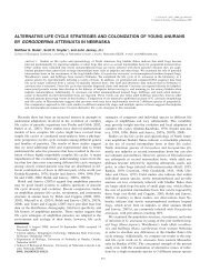 alternative life cycle strategies and colonization of young ... - BioOne