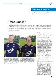 Fotbollsskador (2008) - GIH