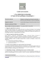 Bâtiments et éclairage des collectivités territoriales - Ministère du ...