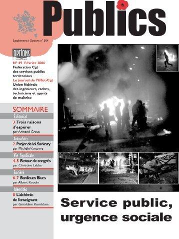 Service public, urgence sociale - CGT Services publics