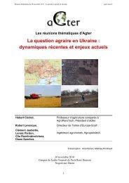 La question agraire en Ukraine : dynamiques récentes et ... - aGter
