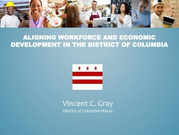 Aligning Workforce and Economic Development in the District of ...