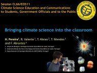Bringing climate into the classroom