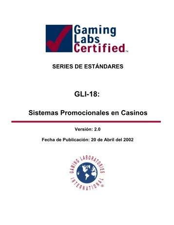 GLI-18: - Gaming Laboratories International