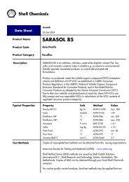 SARASOL 85 - Asia Pacific