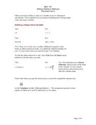 Mathcad Document Set 2
