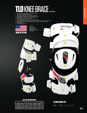 TLD KNEE BRACE SET MADE IN THE USA - Steve Cramer Products