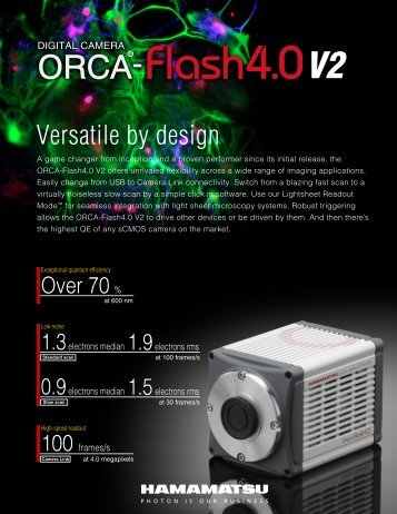 Hamamatsu ORCA-Flash 4.0 - Institute for Systems Biology