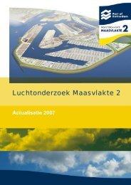 Luchtonderzoek Maasvlakte 2 - actualisatie 2007